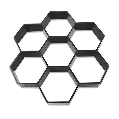 Maker Kostüm - nakw88 Hot 30 * 30cm Personality Garten Spaziergang Maker Kostüm Form Hexagon DIY Park Stein Pfad Durchlässig Ziegel Form Building Pavement Molds Schwarz - Schwarz, Free Size