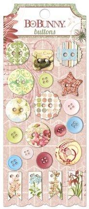 BoBunny Garden Journal Buttons Scrapbook Embellishments by Bo Bunny