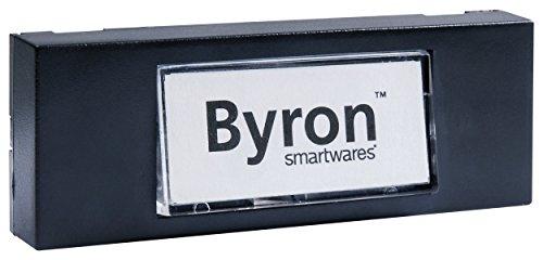 Byron 7740 Verdrahteter Universal-Klingeltaster in schwarz mit Beschreibbarem Namensschild (Gehäuse Linie Die Spannung)