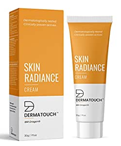 DERMATOUCH Skin Radiance Cream For Glowing Skin    Protects Against Skin Damage    Reduces Pigmentation, Dark Spots, Age Spots    Provides Deep Nourishment    Suitable For All Skin Types - 30G