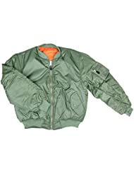AlxShop - Bombers Ma-1 Uni - Couleur : Green - Taille : 48/XL - Couleur : Green