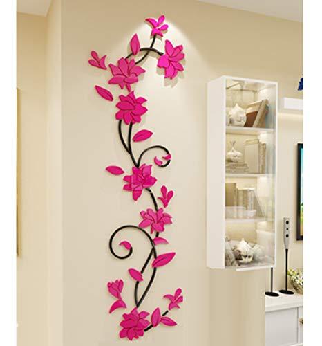 JIAOXM 3D-Stereo Acryl Wandsticker,Wohnzimmer Schlafzimmer Dekoration Selbstklebend Wandsticker Wasserdicht b
