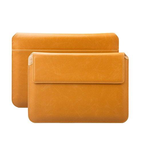 iCues Schutzhülle für Apple iPad Mini 4 Case | Samsung Galaxy Tab S2 8.0 Tasche | 6.9 bis 8.0 Zoll Tablets Piquante Etui Buffalo Karamell | Sleeve Hülle Case Notebook Tablet Leder Cover Schutz