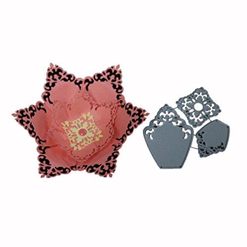squarex Flower Heart Metall schneiden stirbt Schablonen 2018DIY Scrapbooking Album Papier Card Craft, silberfarben, H
