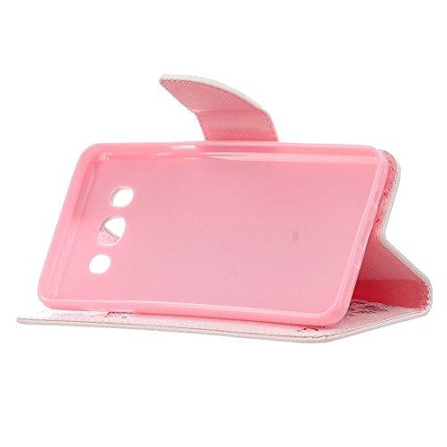Yaking Apple iPhone 5/5S/SE Coque, (3 in 1) PU Portefeuille Étui Coque Stand Flip Housse Couvrir Case Cover pour Apple iPhone 5/5S/SE avec 1 X Stylet + 1 X Strass Bouchon Anti-Poussière F-3