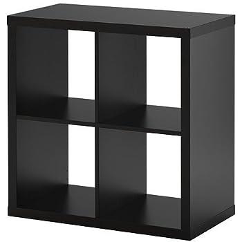 Ikea Kallax Regal Schwarz Braun Amazon De Küche Haushalt