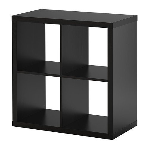 Ikea KALLAX Regal schwarzbraun; (77x77cm); Kompatibel mit EXPEDIT (Regal Ikea)