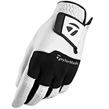 TaylorMade Men's Stratus Leather Golf Glove, White, X-Large
