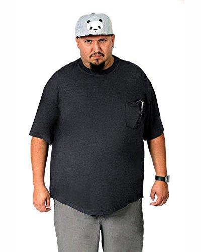 Big Boy Bamboo Big and Tall Rundhalsausschnitt T-Shirt mit Tasche - Herren kurzärmlig Taschen-T-Shirt aus ultraweichem Bambus - grau - 3X-Groß (Big-und Kleid Tall-herren-t-shirts)