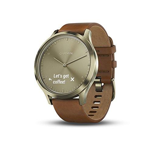 garmin vívomove hr sport hybrid smartwatch premium small/medium old skool pro