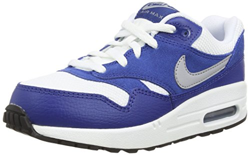 Nike - Air Max 1 PS - Couleur: Blanc-Bleu - Pointure: 29.5