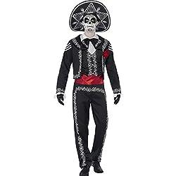 Smiffy's 43738XL Día de Muertos Señor Bones - Disfraz para adultos, talla XL