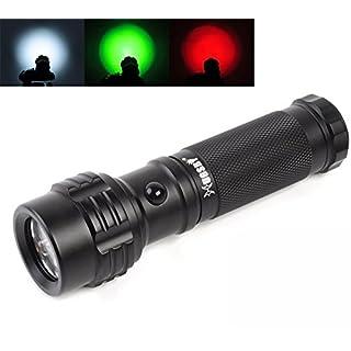 Handheld Flashlight, AntEuro Portable Outdoor Pocket Tri-Color Light 11 LED 3-mode Flashlights Road Signal Torch