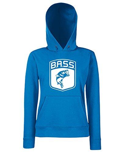 T-Shirtshock - Sweatshirt Hoodie Frauen FUN0712 bass logo fish largemouth die cut vinyl decal sticker 83988, Größe L (Die Decal Cut Logo)