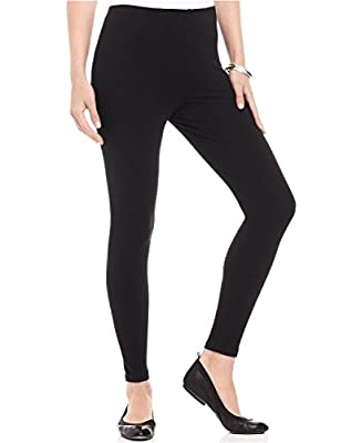 FashGlam Women's Cotton Ankle Length Leggings (Black, White, Free Size)