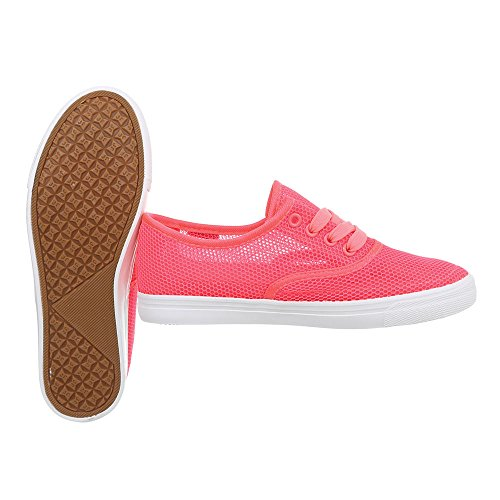 Ital-Design Scarpe da Donna Sneaker Piatto Sneakers Low Rot