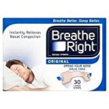 4 x Breathe Right N/Strip 30 Nat Large