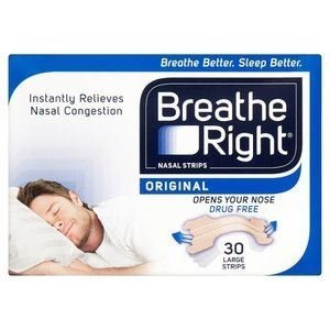 4 x Breathe Right N/Strip 30 Nat Large -