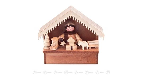 3 Miniatur Miniaturautos H=ca 2,5 cm NEU Erzgebirge Weihnachtsfigur Holzfigur