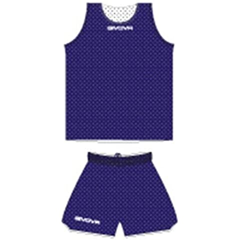 Givova Double Kit Basket, Blu/Bianco,