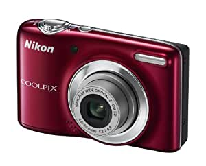 Nikon Coolpix L25 Digital Camera - Red (10.1MP, 5x Optical Zoom) 3 inch LCD