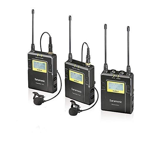 Saramonic Lavalier Mikrofon System UWMIC9 96-Kanal Digital UHF Kabellos Funkmikrofon