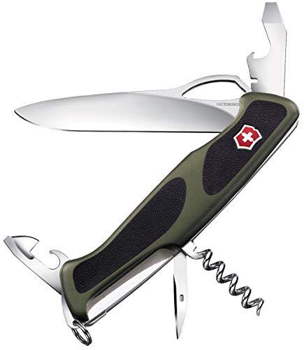 Victorinox Taschenmesser Ranger Grip 61 (11 Funktionen, Einhand-Feststellklinge) olive/schwarz