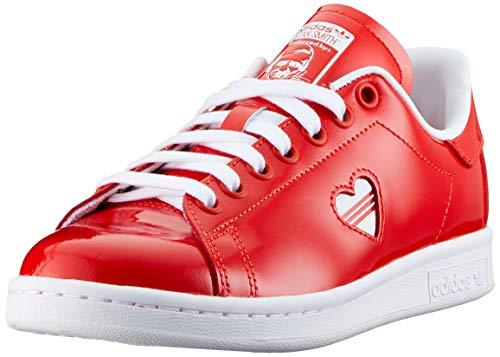 adidas Stan Smith W G28136, Scarpe da Ginnastica Basse Donna, Rosso (Red, 38 2/3 EU