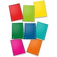 Pigna Monocromo 02298880Q, Quaderno Formato A4, Rigatura 0Q, Quadretti 5 Mm con Margine per 2° e 3° Elementare, Carta 100G/Mq, Pacco da 10 Pezzi