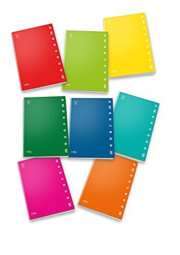 Pigna monocromo 02298880c, quaderno formato a4, rigatura 0c, righe per 4° e 5° elementare, carta 100g/mq, pacco da 10 pezzi