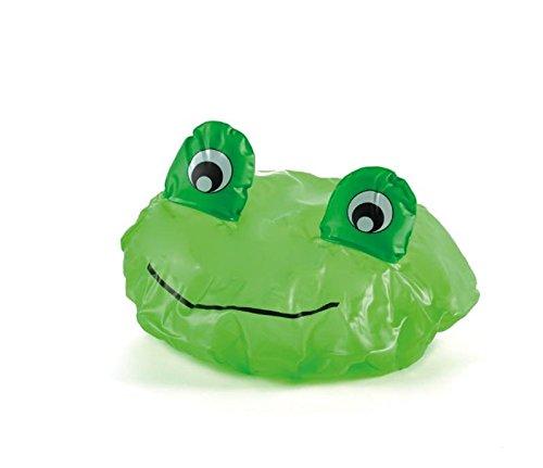 Cuffia bagno rana in confezione regalo cilindrica trasparente, idea regalo utile per proteggere dall' acqua quando si hanno i capelli molto lunghi e si va di fretta. Idee regalo simpatiche , insolite