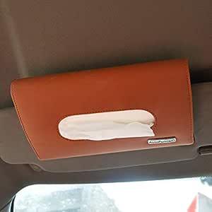 Autofurnish 7D Car Sun Visor Tissue Holder Box with Free Tissues(Coffee)