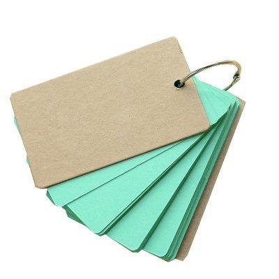 ruikey Hardcover Cute Farbe Seite Tragbare Mini Notizblock liniert, gebundenen Top Spirale Note Notizbuch Tagebuch mit säurefreiem Papier für alle Stifte mit Kein Beschnitt Best Geschenk 1 grün (Top-spirale Gebunden Notebook)