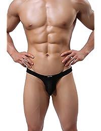 missurous Hombres de la ropa interior sexy transpirable para hombre Mini de encaje escritos tangas