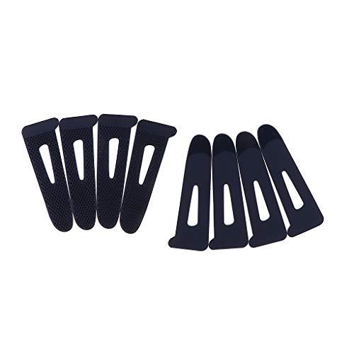 perfk 8er/Set Manschette Hülse Klettverschluss Nähzubehör für Handschuhe, Jacke, Outdoorbekleidung 8,8x3,1cm - Dunkelblau