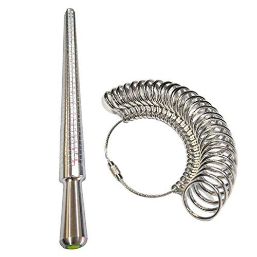 Ring Sizer Measurement Kit Werkzeuge Metall Ring Sizer Lehren Set für Messringe Durchmesser