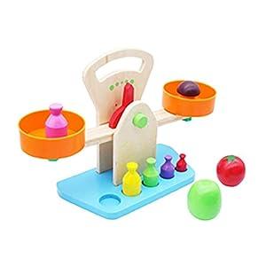 Toyvian Holz Waage Niedlich Waage Spielzeug aus Holz Pädagogisch Schön Lernen Kindergarten Spielzeug Waage für Kleinkinder Babys Kinder