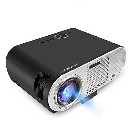 Mengshen proiettore portatile, 3200 lumens lcd proiettore hd 1080p supporto multimedia per family entertainment/home cinema/bambini di apprendimento entertainments, nero ms-gp90