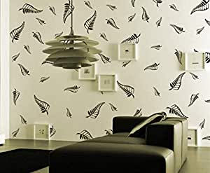 Gallerist Reusable DIY Wall Stencil Painting for Home Decor: Big Leaf Design Wall Stencil, 3 Stencils (Size 8x12, 6x8, 4x6 inches)   Free 1 Drawing Stencil for Kids