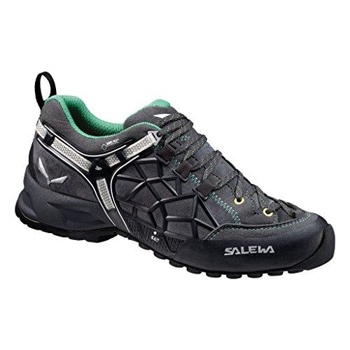 Salewa Ws Wildfire Pro Gtx, Chaussures de Sport Femme Verde  /  Negro   (Carbon / Assenzio 0791)