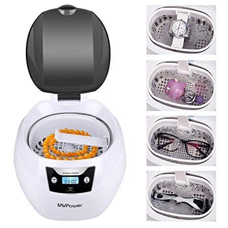 KEALIVE Ultraschallreinigungsgerät 750ml mit Edelstahl Ultraschallbad, 35W Ultraschallgerät [für Brillen, Zahnprothese, Schmuck, Uhren] Ultraschallreiniger mit Waschkorb und Uhr Halter persönlich zuha