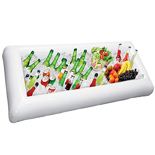 Aufblasbare Buffet-Servierbar Eiskübel Lebensmittelkühler Getränkehalter Tray Cooler Lebensmittelkühler Getränkehalter Leichte tragbare Eiswürfelschale mit Ablassschraube -