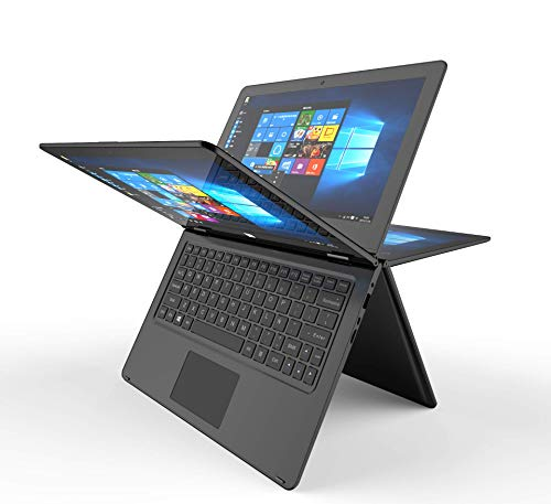 "Notebook Convertibile 2 in 1 Display da 11.6"" tattile 2 GB di RAM, 32 GB eMMC Windows 10, 10000 MAh colore: nero - Tastiera QWERTY spagnolo Prixton Flex 360"