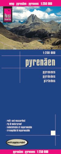 Landkarte: Pyrenäen (Frankreich, Spanien, Andorra), Maßstab 1:250.000