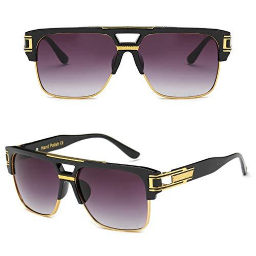 Weishazi Retro-Sonnenbrille, quadratisch, großer Rahmen, modische Persönlichkeit, Charms, Brille, Marken-Designer Damen Herren Vintage Sonnenbrille, Driving UV400, keine Blendung 2