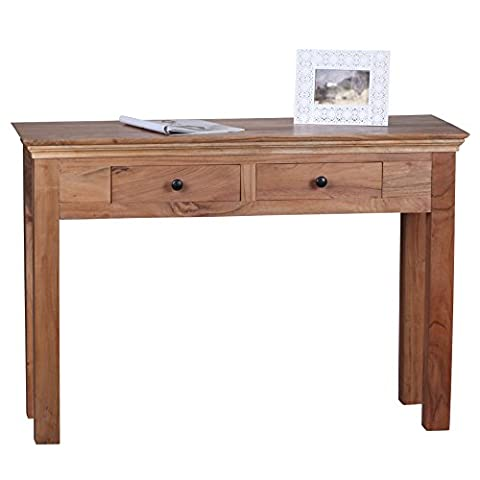 Table Bois Massif - Wohnling Table console bois massif d'Acacia Console