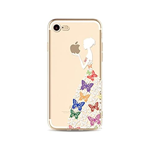 iPhone SE/5/5S case bumper MUTOUREN Soft Silicone Colorful Painting Pattern Practical high-quality case Protective Perfect Fit Anti-Scratch Protective Case Cover Butterfly