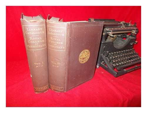 Catalogue of the library of the Royal College of Physicians of Edinburgh : containing the titles of all works up to 1st January 1898 / compiled by J. Matheson Shaw