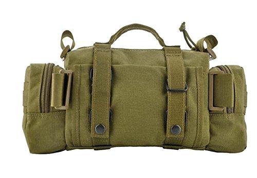 BULAGE Taschen Geldbörsen Taschen Mann Leinwand Natur Reisen Freizeit Brustbeutel Männer Abriebfest Kratzfest Tragbar Rucksack Tasche ArmyGreen