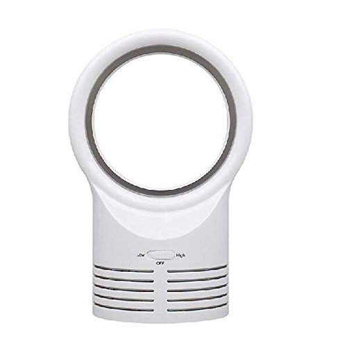 Bladeless Fan - Mini tragbaren geräuscharmen Desktop-Lüfter für den Hausgebrauch-Office-Fan-Personal Kühler für Arbeit Studie Schlaf, weiß/schwarz (Farbe : Weiß)